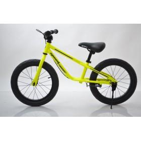 Біговел - велобіг (BRN) B-2, 16 дюймів, Air wheels, з ручними гальмами, жовтий