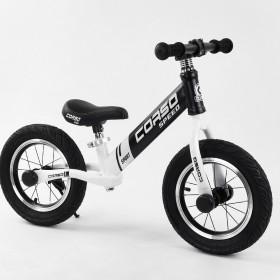 "Біговел CORSO Speed Sport сталева рама 10234 12"" чорно-білий"