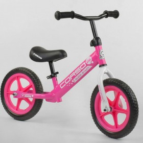 "Беговел CORSO Sprint EVA 21001 12"" розовый"