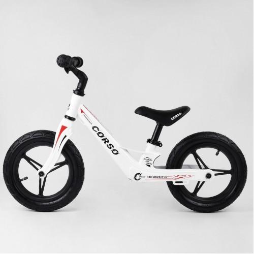Беговел Corso Energy 86969, (велобег) магниевая рама, белый