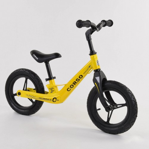 Беговел Corso Energy 25306, (велобег) магниевая рама, желтый