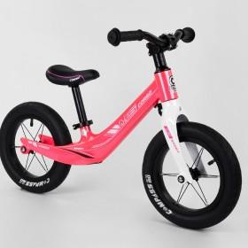 Беговел Corso MG Sport 45383, магниевая рама, подставка для ног, розовый