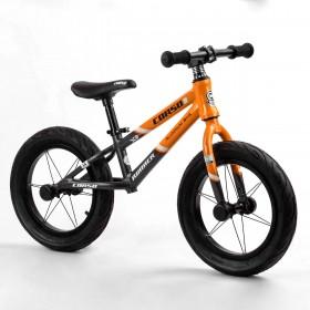 """Беговел Corso Runner 14"""" 23995, алюминиевая рама, алюминиевые диски, оранжевый"""