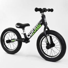 """Біговел Corso Speed Sport 14 """"(велобег), 15322, надувні колеса, чорно-зелений"""