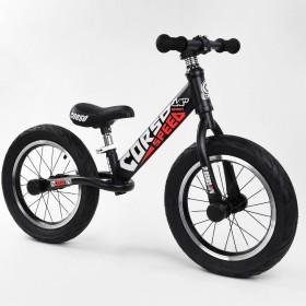 """Біговел Corso Speed Sport 14 """"(велобег), 79077, надувні колеса, чорно-червоний"""
