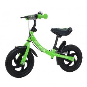 Беговел Tilly Eclipse, колеса 12 дюймов, пенорезина, тормоз, звоночек, зеленый