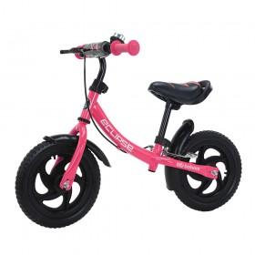 Беговел Tilly Eclipse, колеса 12 дюймов, пенорезина, тормоз, звоночек, розовый