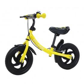 Біговел Tilly Eclipse, колеса 12 дюймів, пенорезіна, гальмо, дзвіночок, жовтий
