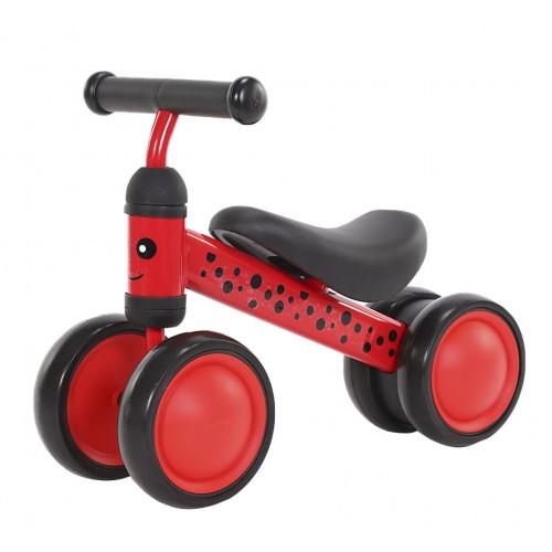 Беговел-каталка Tilly Goody, 4 колеса, от 1 года, вес 1.7 кг, красный