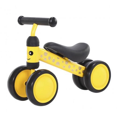 Беговел-каталка Tilly Goody, 4 колеса, от 1 года, вес 1.7 кг, желтый