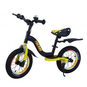 Біговел Tilly Rocket, колеса 12 дюймів, надувні, гальмо, стояночная підніжка, дзвіночок, T-212520/1 чорно-жовтий
