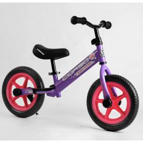 """Беговел Corso Sprint-2 Quick Start Eva 12"""", со стояночной подножкой, фиолетовый"""