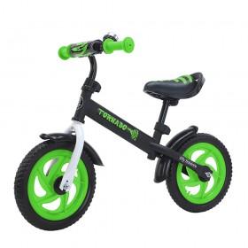 Беговел Tilly Tornado,  колеса 12 дюймов, пенорезина, звоночек, зеленый