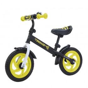 Беговел Tilly Tornado,  колеса 12 дюймов, пенорезина, звоночек, желтый
