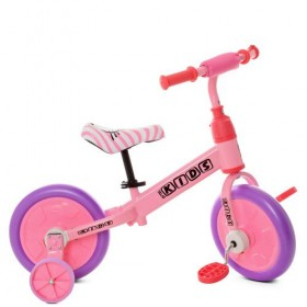 Беговел PROFI KIDS 2в1 с педалями М 5453 розовый