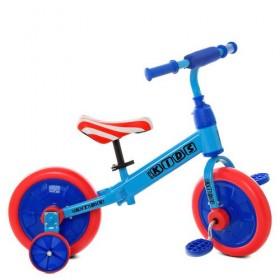 Беговел PROFI KIDS 2в1 с педалями М 5453 синий