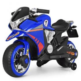 Электромобиль детский Мотоцикл Bambi M 3682L-4, синий