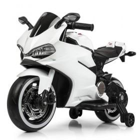 Электромобиль детский Мотоцикл Bambi M4104 EL белый