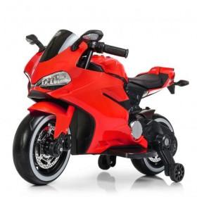 Электромобиль детский Мотоцикл Bambi M4104 EL красный