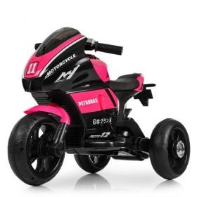 Электромобиль детский Мотоцикл Bambi M4135L-8, черно-розовый