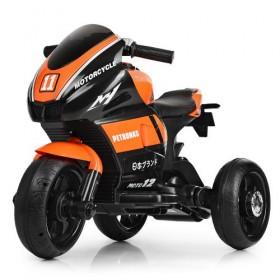 Электромобиль детский Мотоцикл Bambi M4135L-7, черно-оранжевый