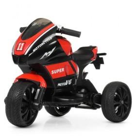 Электромобиль детский Мотоцикл Bambi M4135L-3, черно-красный