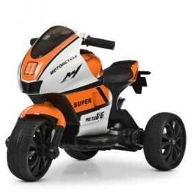 Электромобиль детский Мотоцикл Bambi M4135L-1-7, бело-оранжевый
