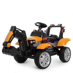 Электромобиль детский Трактор BAMBI M 4263 EBLR, оранжевый