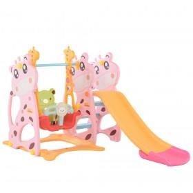 Горка и качели Toti Жираф 07-508, розовая