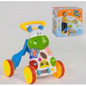 Музыкальная Каталка-ходунки Бегемотик SL 83570, развивающая игрушка, от 9 месяцев