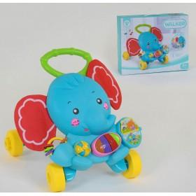 Музыкальная Каталка-ходунки Слон HY 68112, развивающая игрушка с подсветкой, от 9 месяцев