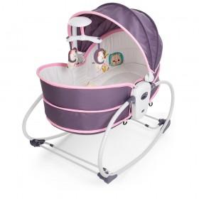 Люлька-качалка Bambi 6033, серо-розовая