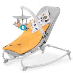 Шезлонг-качалка Kinderkraft Felio 2020 оранжевый