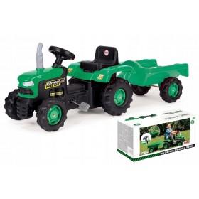 Трактор на педалях DOLU 8053 с прицепом, зеленый