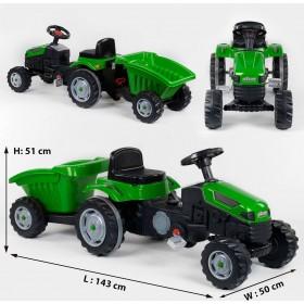 Педальний трактор з причепом Pilsan 07-316 зелений