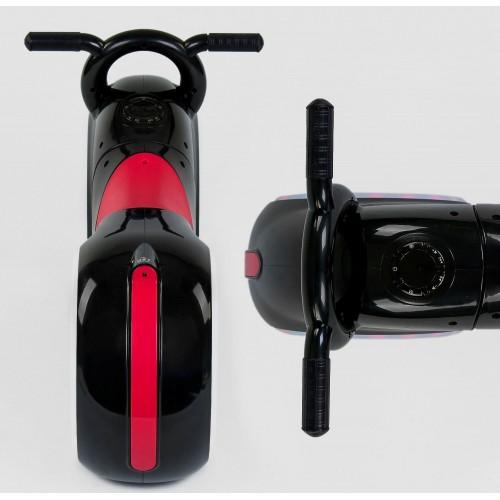 Беговел Cosmo - байк, каталка - толокар, трон байк, с подсветкой колес, музыкой, черно-красный