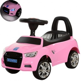 Каталка - толокар Bambi, машинка M3147А, розовая