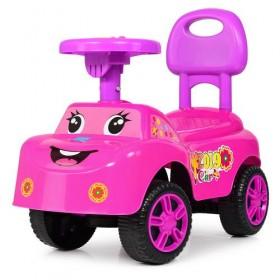 Каталка - толокар, машинка Bambi M4073, рожева