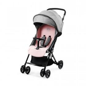 Прогулочная коляска-книжка Kinderkraft Lite Up розовая