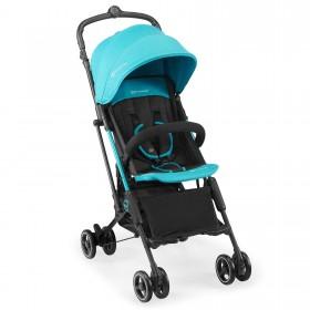 Прогулочная коляска-книжка Kinderkraft Mini Dot голубая