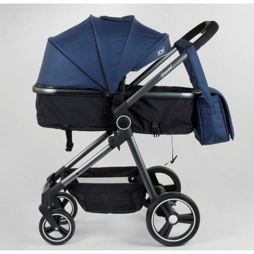 Универсальная коляска 2 в 1 JOY Naomi 62763 синяя