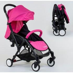 Прогулочная коляска-книжка JOY W 8095 розовая