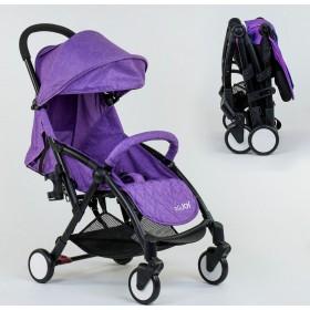 Прогулочная коляска-книжка JOY W 2277 фиолетовая