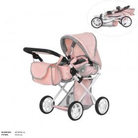 Коляска для ляльок CARRELLO UNICO 9346, рожева
