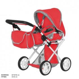 Коляска для ляльок CARRELLO UNICO 9346, червона