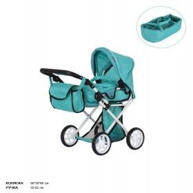 Коляска для ляльок CARRELLO UNICO 9346, зелена