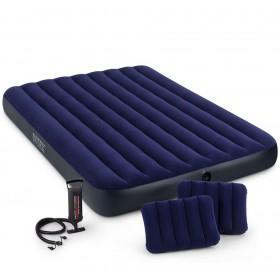 Надувной двухместный матрас Intex 64765, 2 подушки, с ручным насосом