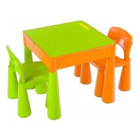 Столик с двумя стульчиками Tega Baby Mamut оранжево-зеленый