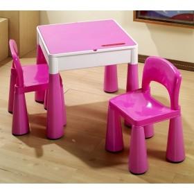 Столик с двумя стульчиками Tega Baby Mamut розовый
