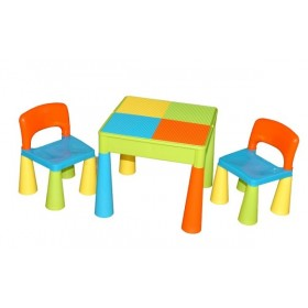 Столик с двумя стульчиками Tega Baby Mamut разноцветный
